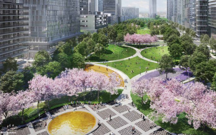 What kind of green space can residents expect for TC5 and TC5 projects?