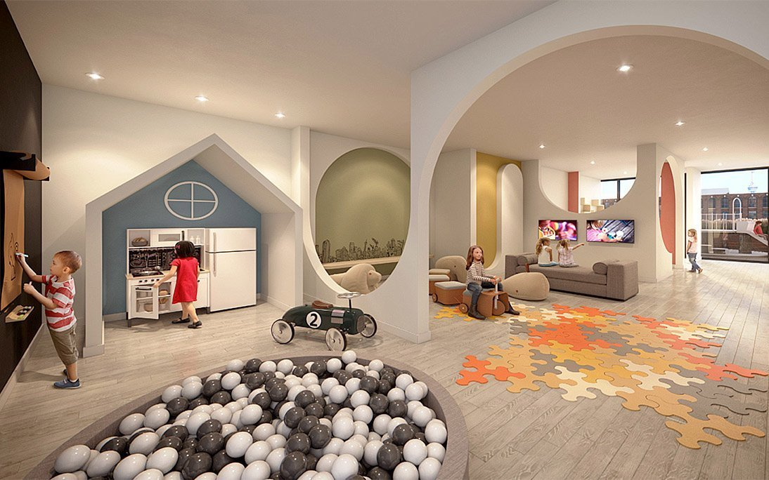 Lifetime Developments dedicated a space to Kids Zone at this building