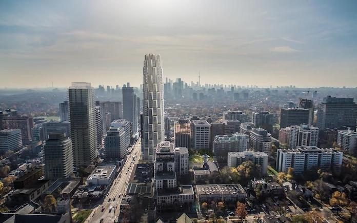 The landmark 1 Delisle Condos by Slate Asset Management, designed by internationally-renowned architect group Studio Gang led by Jeanne Gang , an environmentally-sustainable development that looks to invigorate the Yonge-St Clair intersection in Toronto
